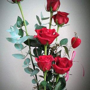 centro de 6 rosas 35€ reducido