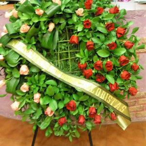 corona funebre de rosas 250€