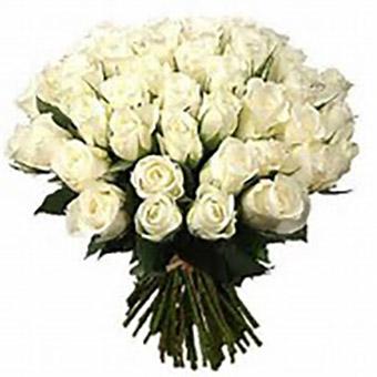 ramo de 18 rosas blancas